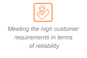Meeting the high customer requirements in terms of reliability