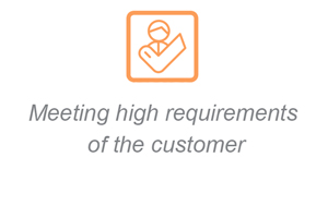 Meeting high requirements of the customer