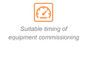 Suitable timing of equipment commissioning