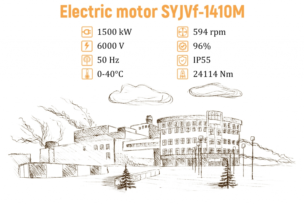 Electric motor SYJVf-1410M big