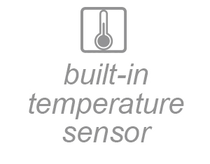 built-in temperature sensor